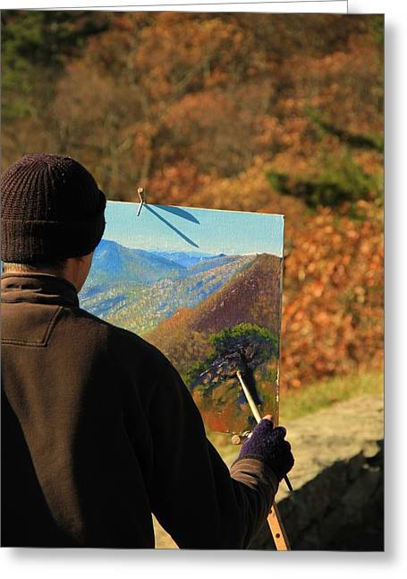 Painting Shenandoah Greeting Card by Dan Sproul