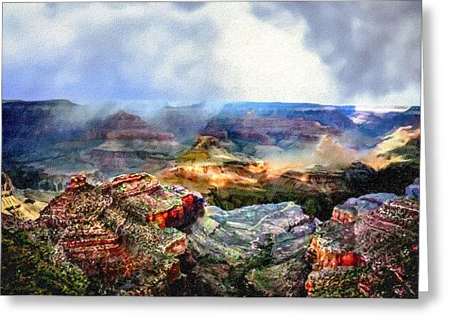 Yaki Greeting Cards - Painting The Grand Canyon Greeting Card by  Bob and Nadine Johnston