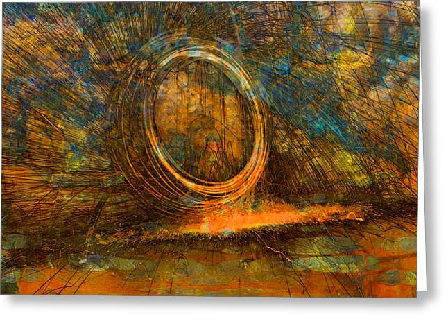 On Fire Mixed Media Greeting Cards - Painting With Fury Greeting Card by Dan Sproul