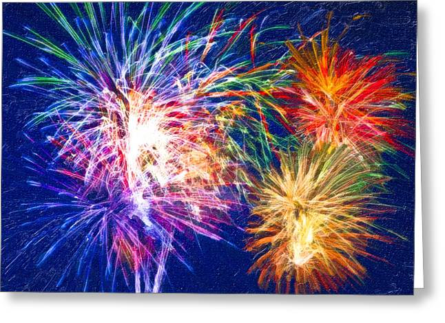 4th July Digital Art Greeting Cards - Painting With Light Greeting Card by Mark Tisdale