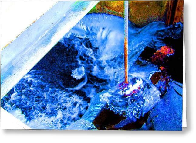 Painting with Water Greeting Card by Mike McCool