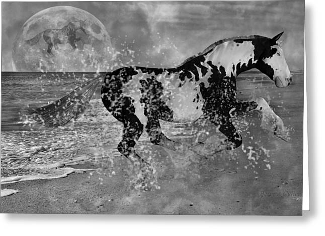 Super Moon Greeting Cards - Paints Paradise Greeting Card by Betsy C  Knapp