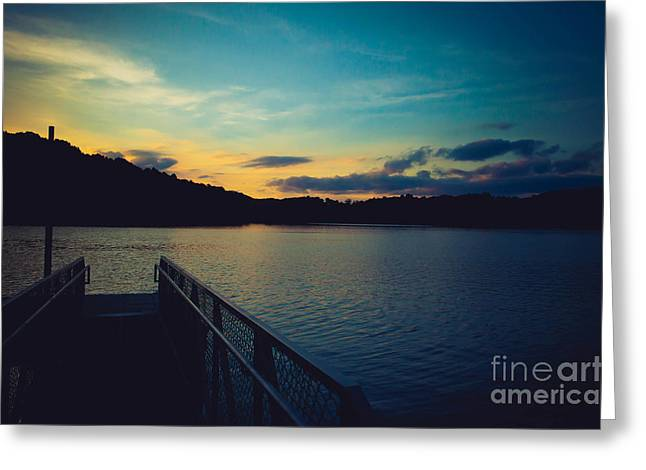 Paintsville Lake Greeting Card by Lena Auxier