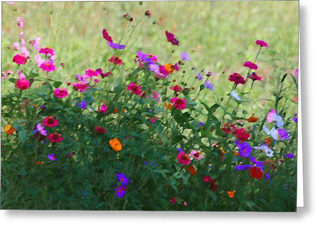 Photographers Conyers Greeting Cards - Painty Roadside Flowers Greeting Card by Cathy Lindsey