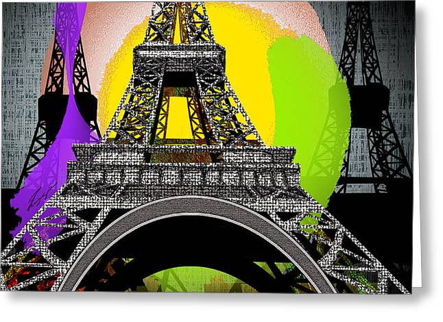 Paree Greeting Card by Reggie Duffie