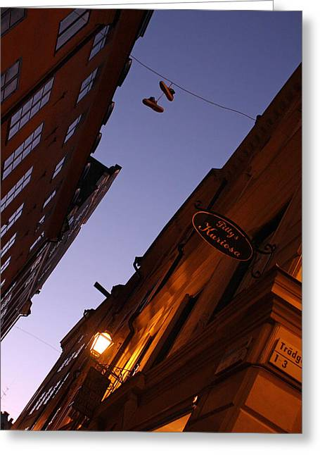 Alex Sukonkin Greeting Cards - Pair of boots in the sky Greeting Card by Alex Sukonkin