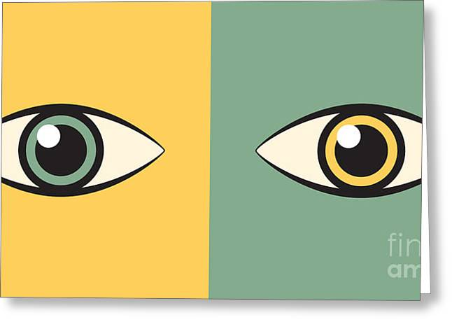Watchdog Greeting Cards - Pair Of Eyes Greeting Card by Igor Kislev