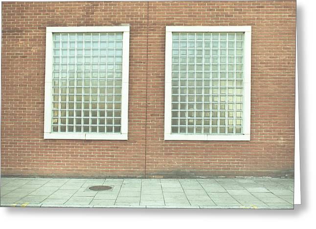 Pair Of Windows Greeting Card by Tom Gowanlock