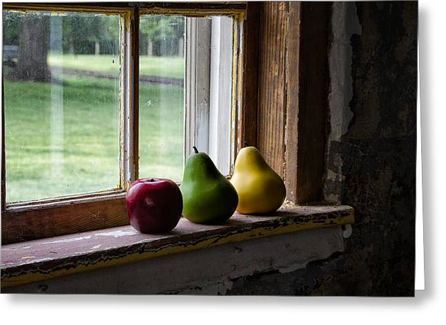 Farmstand Greeting Cards - Paired pears Greeting Card by Marzena Grabczynska Lorenc