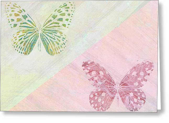 Red And Pink Greeting Cards - Pairs of wings Greeting Card by Aged Pixel