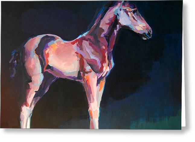 Race Horse Greeting Cards - Paisano Greeting Card by Kimberly Santini