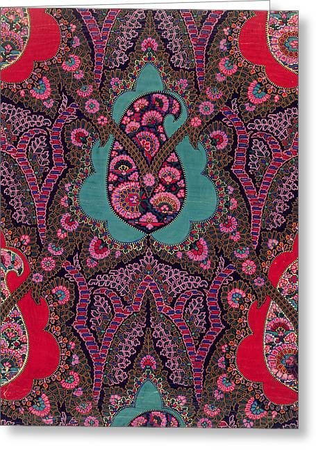 Woven Greeting Cards - Paisley  Greeting Card by George Charles Haite