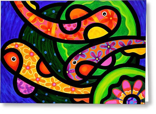 Paisley Pond - Horizontal Greeting Card by Steven Scott