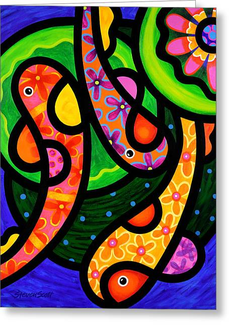 Paisley Pond - Vertical Greeting Card by Steven Scott
