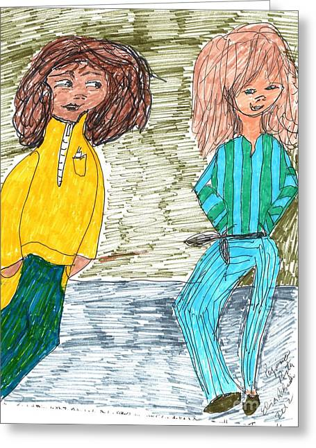 Pajamas Greeting Cards - Pajama Party Greeting Card by Elinor Rakowski