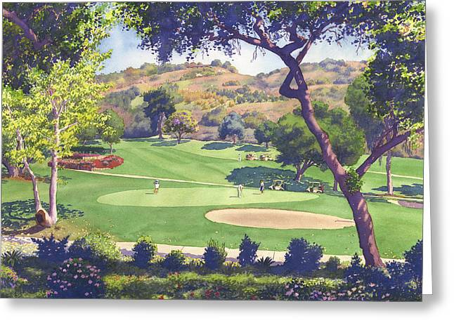 Mesa Greeting Cards - Pala Mesa Golf Course Greeting Card by Mary Helmreich