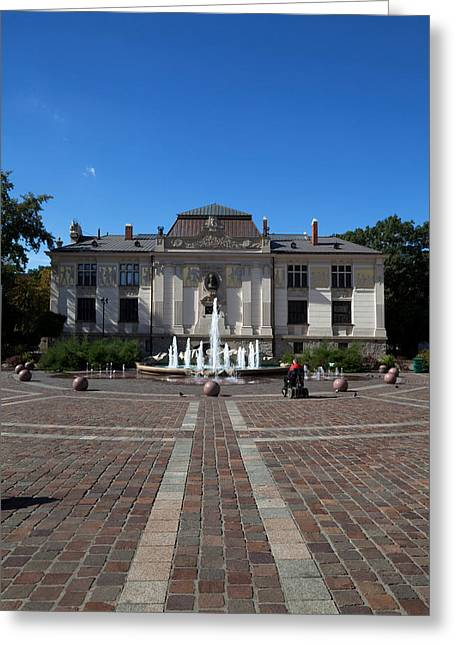 Krakow Greeting Cards - Palac Sztuki - The Palace Of Art Greeting Card by Panoramic Images