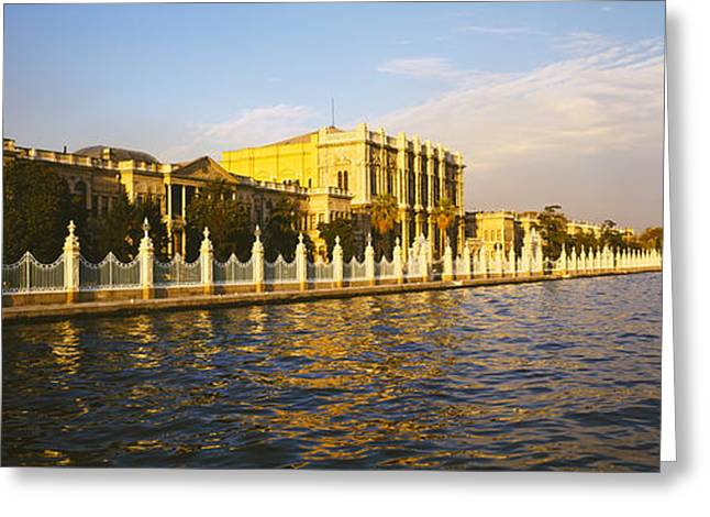 Istanbul Greeting Cards - Palace At The Waterfront, Dolmabahce Greeting Card by Panoramic Images