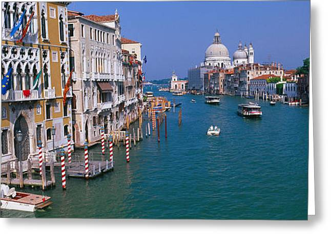 Accademia Greeting Cards - Palace At The Waterfront, Palazzo Greeting Card by Panoramic Images