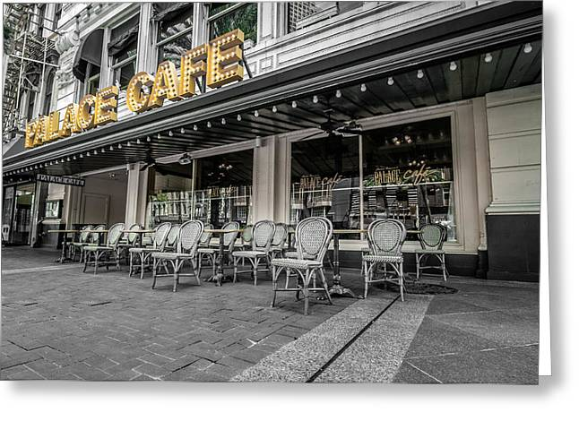 Cajun Cafe Greeting Cards - Palace Cafe in New Orleans 2 Greeting Card by Andy Crawford