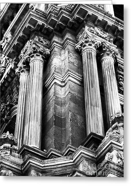 Palace Columns Greeting Card by John Rizzuto