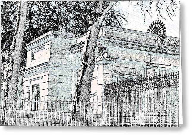 Buckingham Palace Digital Greeting Cards - Palace Grounds Greeting Card by Brad Gravelle