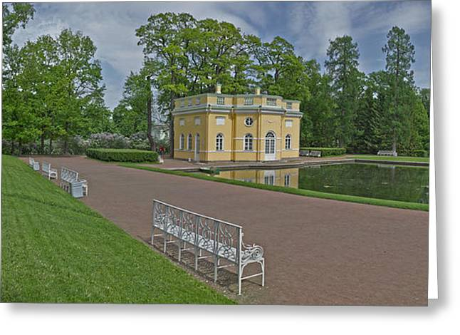 Summer Palace Greeting Cards - Palace Grounds, Catherine Palace Greeting Card by Panoramic Images