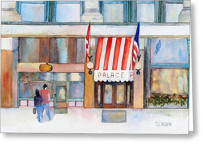 Wa Paintings Greeting Cards - Palace Hotel Greeting Card by Sandy Linden