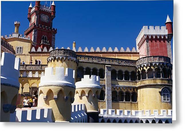 Pena Greeting Cards - Palace In A City, Palacio Nacional Da Greeting Card by Panoramic Images