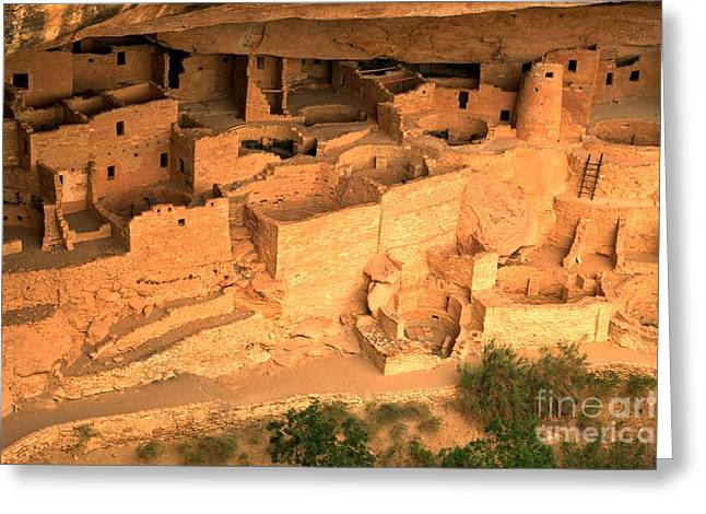 Ancient Ruins Greeting Cards - Palace In The Cliff Greeting Card by Adam Jewell