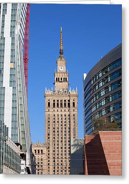 Polish Culture Greeting Cards - Palace of Culture and Science in Warsaw Greeting Card by Artur Bogacki