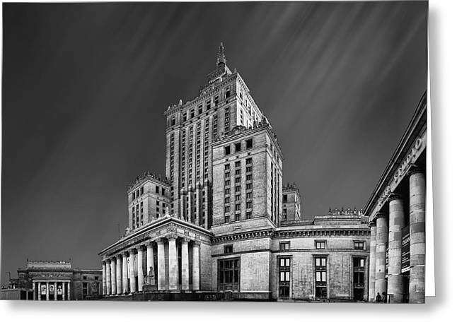 Polish Culture Greeting Cards - Palace of Culture and Science  Greeting Card by Tomas Romasevski