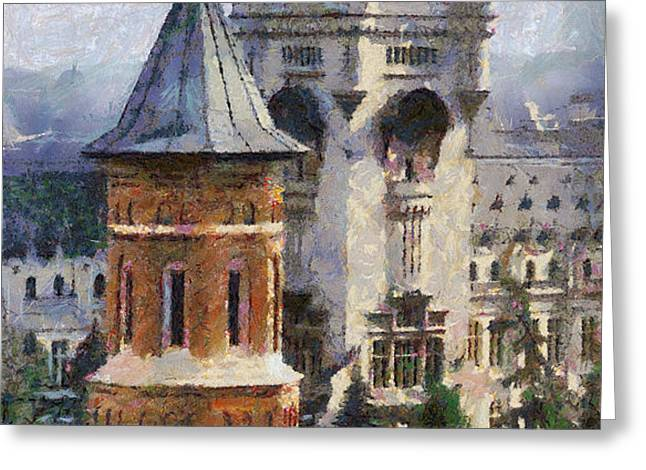 Palace of Culture Greeting Card by Jeff Kolker