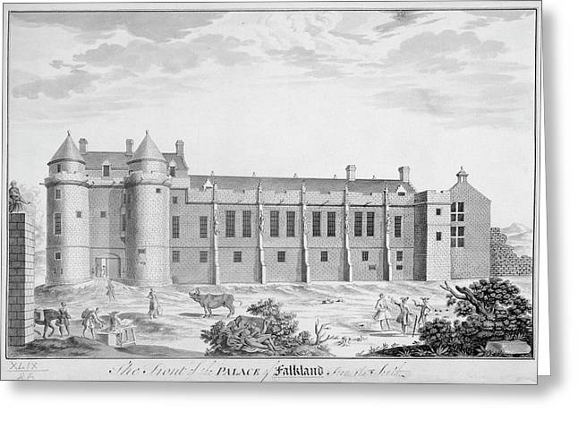 Palace Of Falkland Greeting Card by British Library