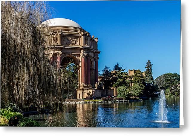 Palace Of Fine Arts In Color Greeting Card by Bill Gallagher