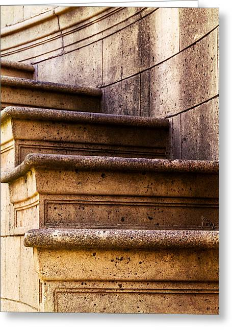 Bill Gallagher Greeting Cards - Palace Of Fine Arts Staircase Greeting Card by Bill Gallagher