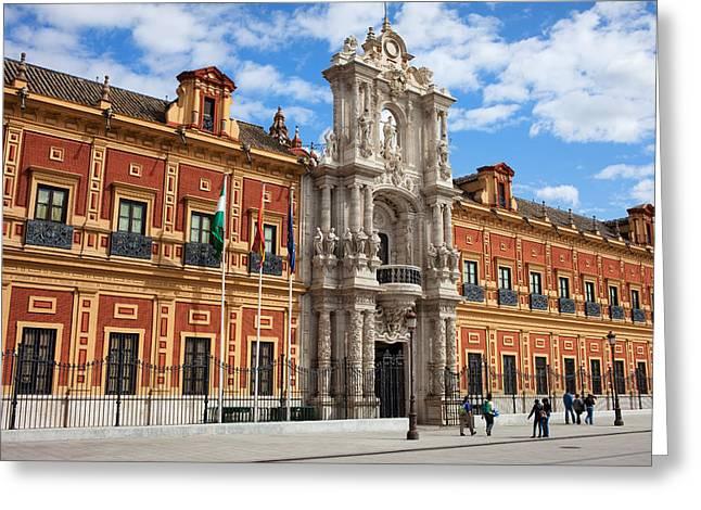 Portal Greeting Cards - Palace of San Telmo in Seville Greeting Card by Artur Bogacki