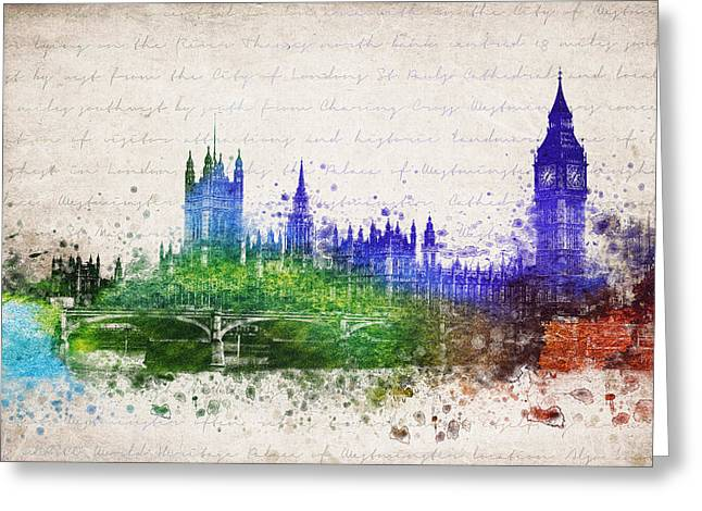 Palace Of Westminster Greeting Card by Aged Pixel