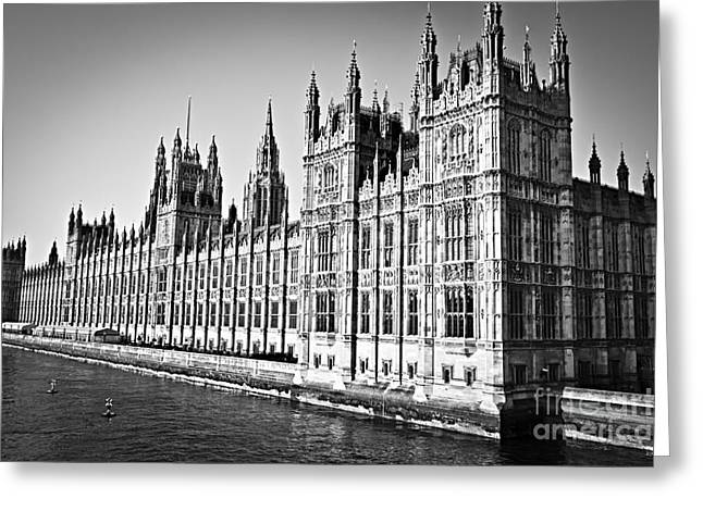 Thames River Greeting Cards - Palace of Westminster Greeting Card by Elena Elisseeva