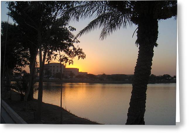 Baghdad Greeting Cards - Palace Sunset Greeting Card by Sharla Fossen