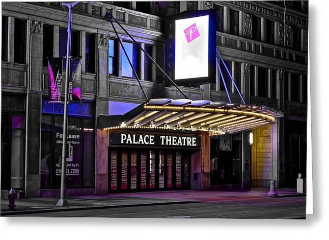 Indian Actor Greeting Cards - Palace Theater Cleveland Ohio Greeting Card by Frozen in Time Fine Art Photography