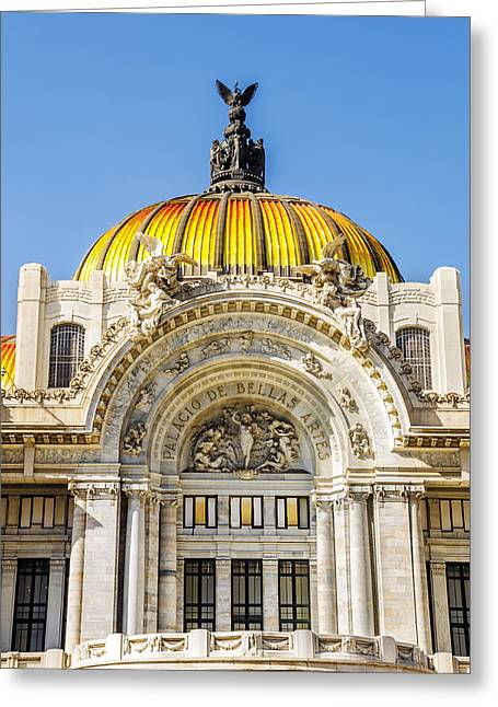 Mexico City Greeting Cards - Palacio de Bellas Artes Greeting Card by Jess Kraft