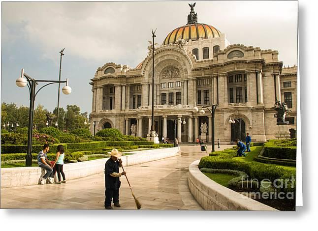 Geobob Greeting Cards - Palacio de Bellas Artes Mexico City Greeting Card by Robert Ford