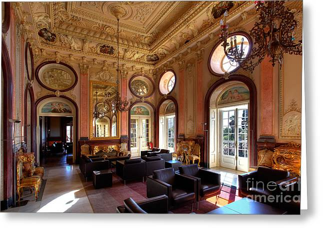 Nigel Hamer Greeting Cards - Palacio De Estoi Greeting Card by English Landscapes