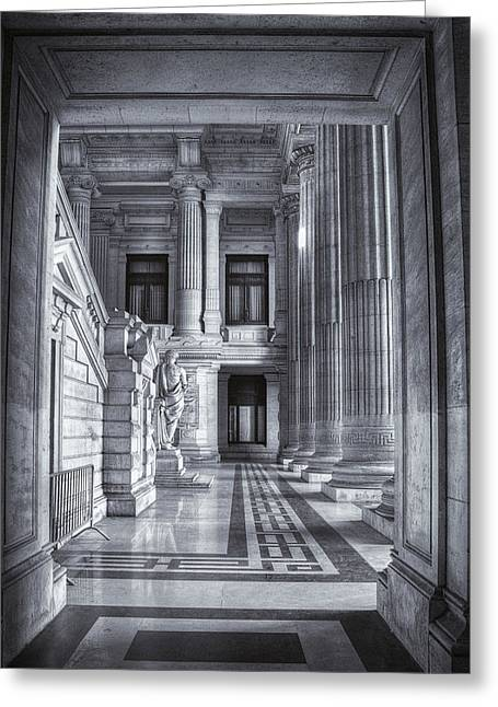 Bruxelles Greeting Cards - Palais de Justice Greeting Card by Joan Carroll