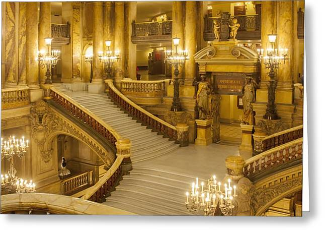 Palais Garnier Interior Greeting Card by Brian Jannsen