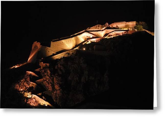 Byzantine Greeting Cards - Palamidi Fortress Greeting Card by David Waldo