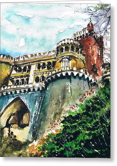 Prague Paintings Greeting Cards - Palat Greeting Card by Turdean Mircea
