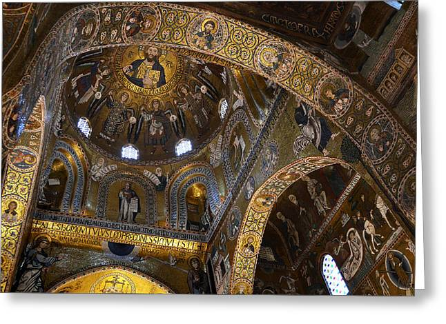 Arab-norman Greeting Cards - Palatine Chapel Greeting Card by RicardMN Photography