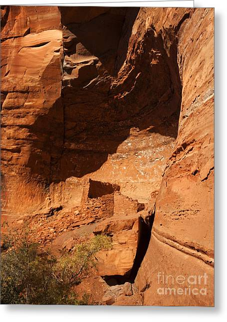 Sinagua Greeting Cards - Palatki Greeting Card by Mike  Dawson